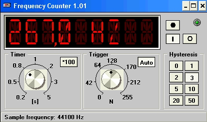 Pantallazo Frequency Counter