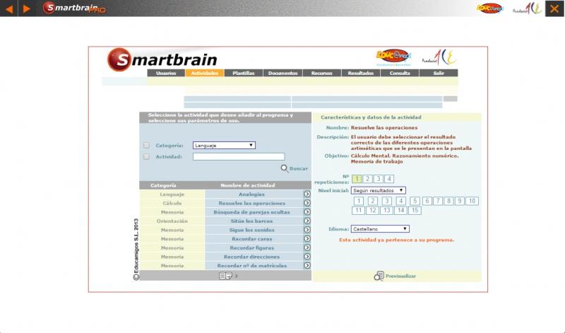 Pantallazo Smartbrain Pro