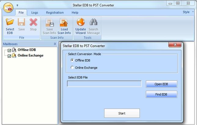 Pantallazo EDB to PST Converter