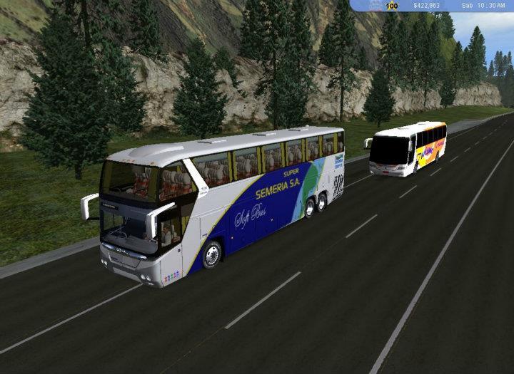 Pantallazo 18 Wheels of Steel Haulin Mod Bus Ecuador