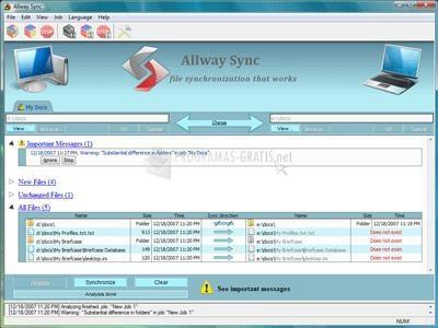 Pantallazo Allway Sync