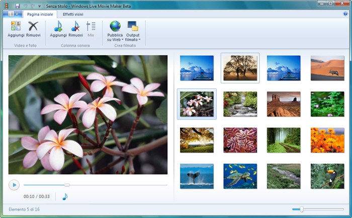 Pantallazo Windows Live Movie Maker