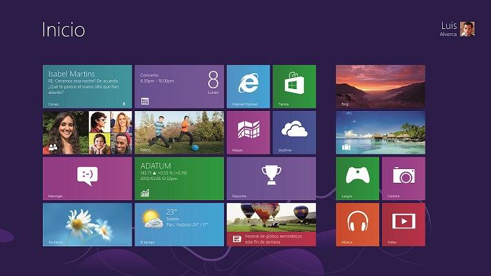 Pantallazo Windows 8
