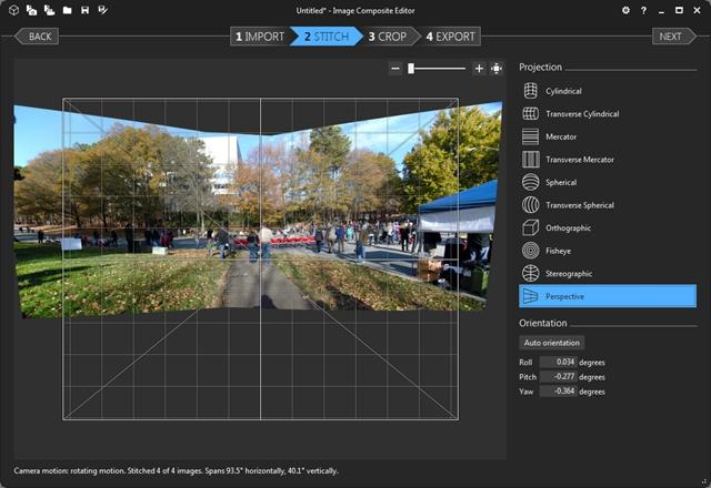 Pantallazo Image Composite Editor