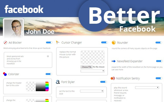 Pantallazo Better Facebook for Chrome