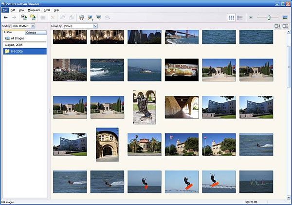 Pantallazo Picture Motion Browser