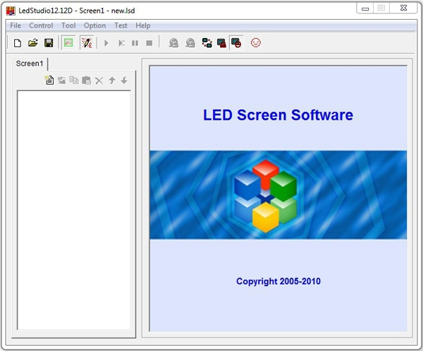 Pantallazo LED Studio Software