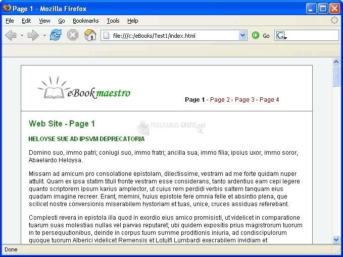Pantallazo eBookMaestro Free