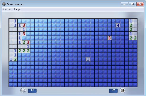 Pantallazo Minesweeper