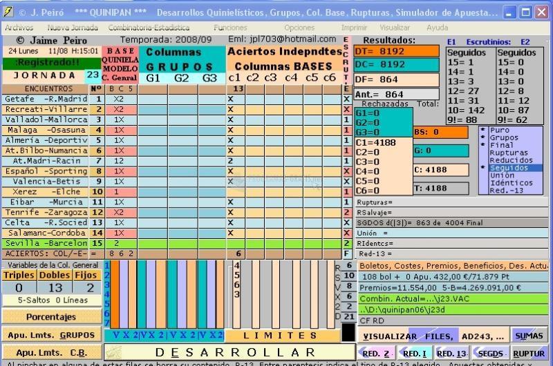 Pantallazo Quinipan-1X2