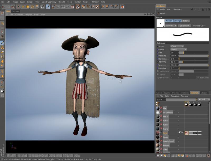 Pantallazo BodyPaint 3D