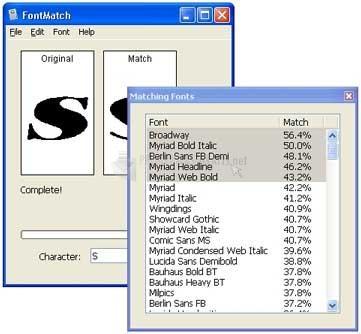Pantallazo FontMatch