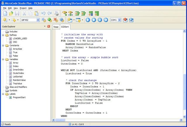Pantallazo MicroCode Studio