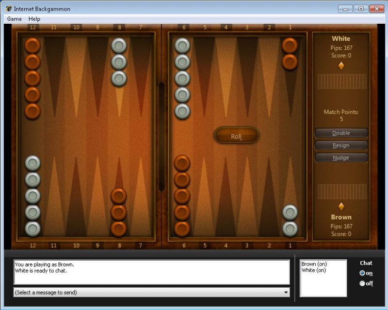 Pantallazo Internet Backgammon