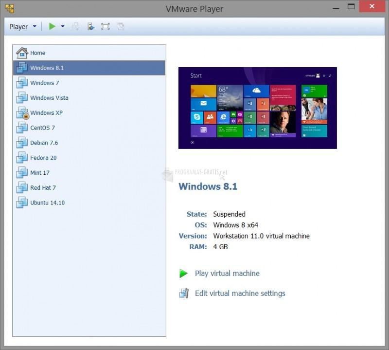 Captura VMware Player