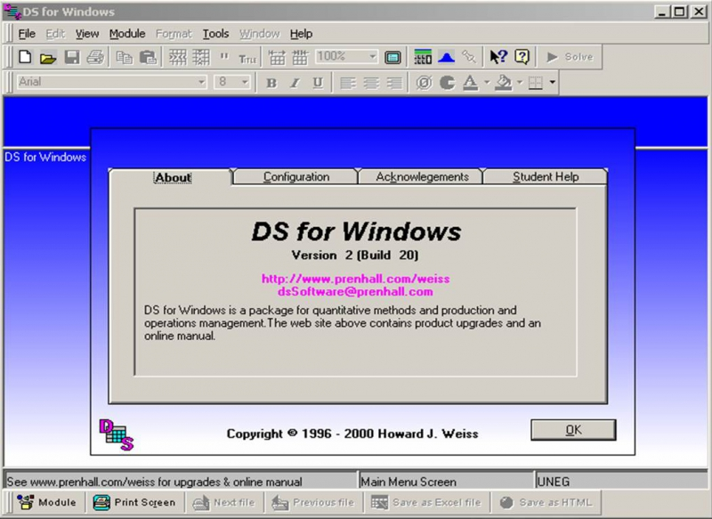 Pantallazo DS for Windows