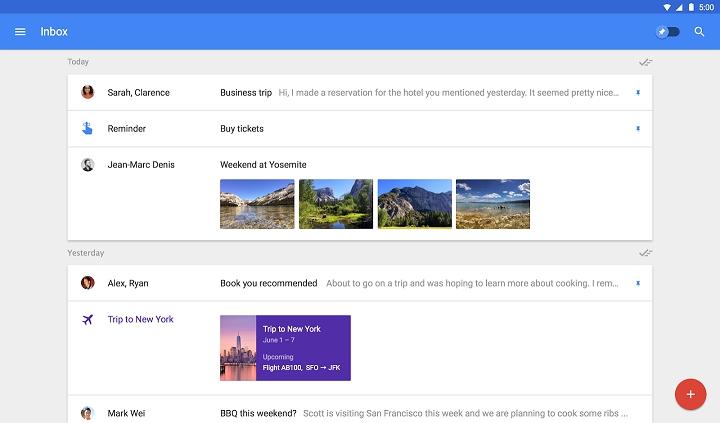Pantallazo Inbox by Gmail