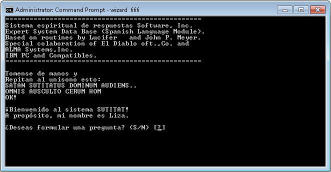 Pantallazo Wizard 666
