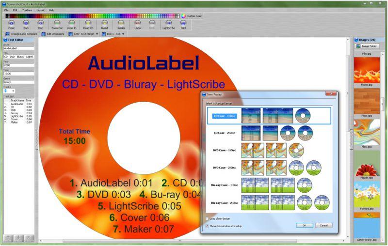 Pantallazo AudioLabel Cover Maker