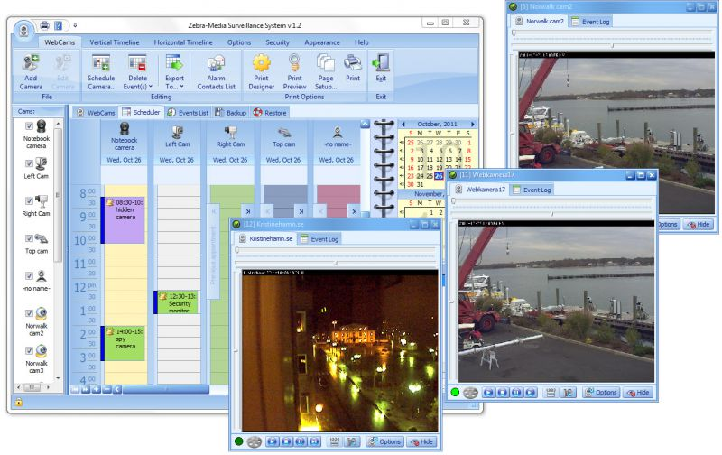 Pantallazo Zebra-Media Surveillance System