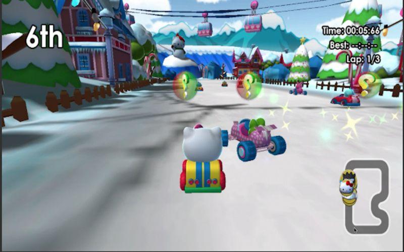 Pantallazo Hello Kitty and Sanrio Friends Racing