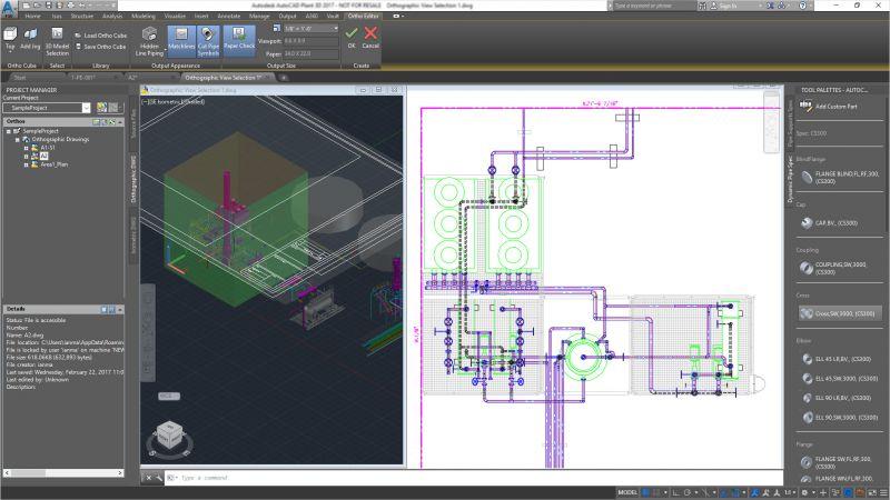 Pantallazo AutoCAD Plant 3D