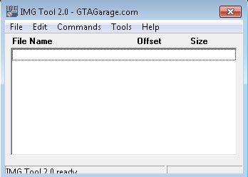 Pantallazo GTA Img Tool