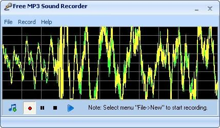Pantallazo Free MP3 Sound Recorder