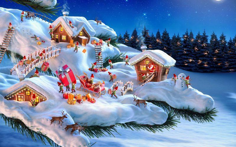 Pantallazo Bosque, enanos y Navidad