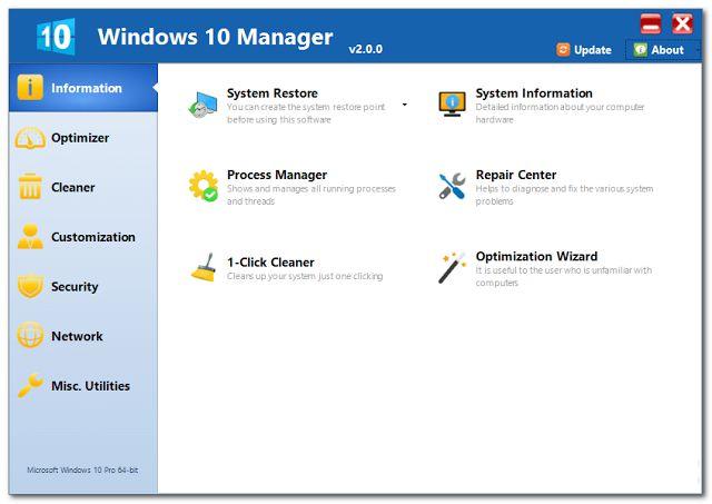 Pantallazo Windows 10 Manager