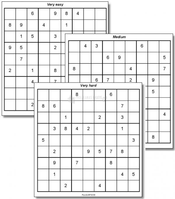 Pantallazo 100 Sudoku Puzzles