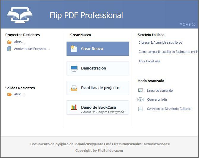 Pantallazo Flip PDF Pro