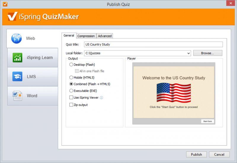 Pantallazo iSpring QuizMaker