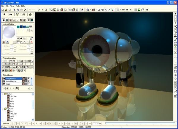 Pantallazo 3D Canvas