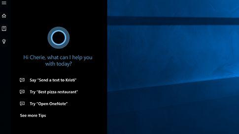 Pantallazo Cortana