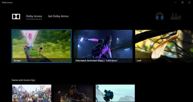 Pantallazo Dolby Access