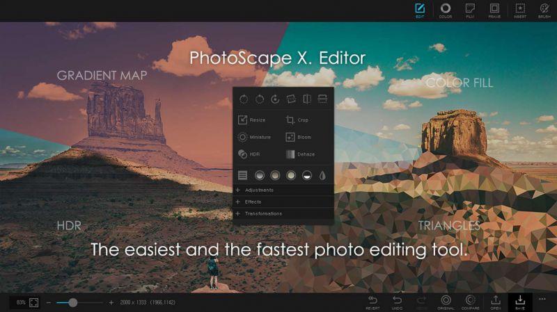 Pantallazo PhotoScape X