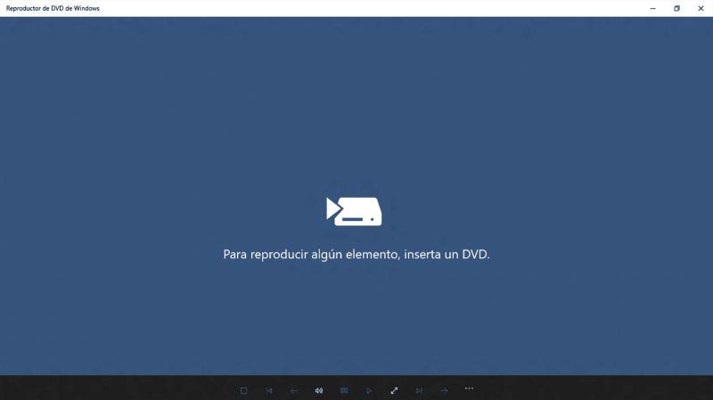 Pantallazo Reproductor de DVD de Windows