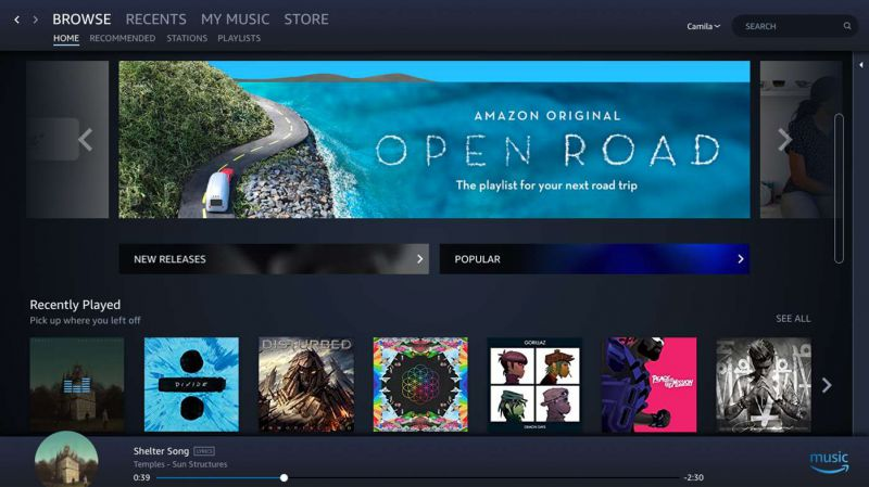 Pantallazo Amazon Music