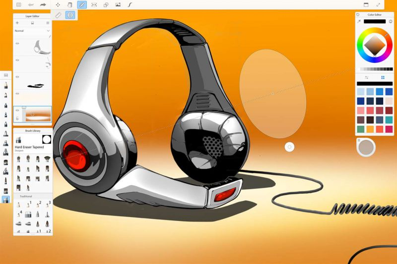 Pantallazo Autodesk SketchBook
