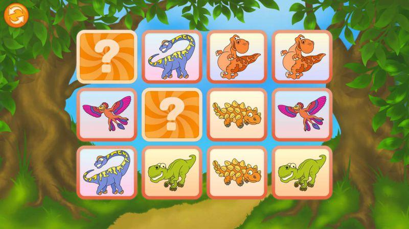 Pantallazo Dinosaurios - Encuentra las Parejas