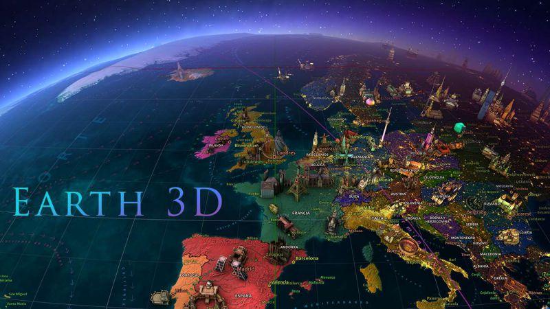 Pantallazo Earth 3D para Windows