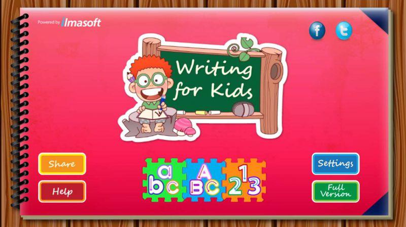 Pantallazo Writing for Kids