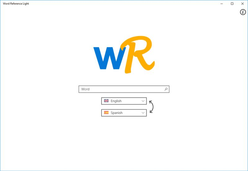 Pantallazo WordReference Light