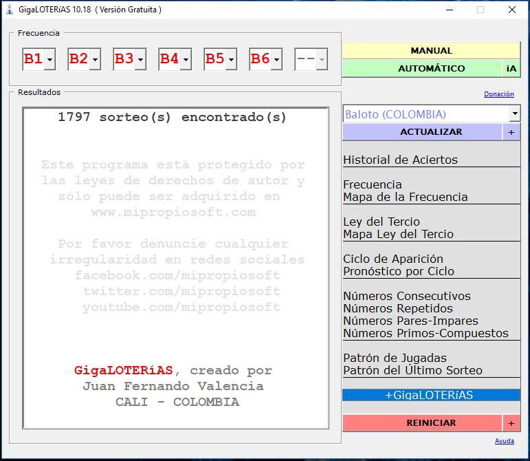 🔳 Descargar GigaLOTERIAS 10 18 Gratis para Windows