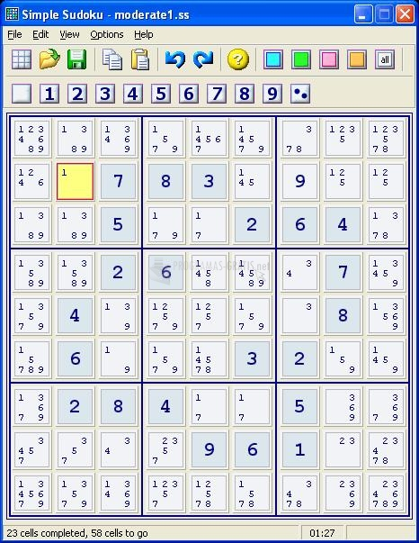 Pantallazo Simple Sudoku