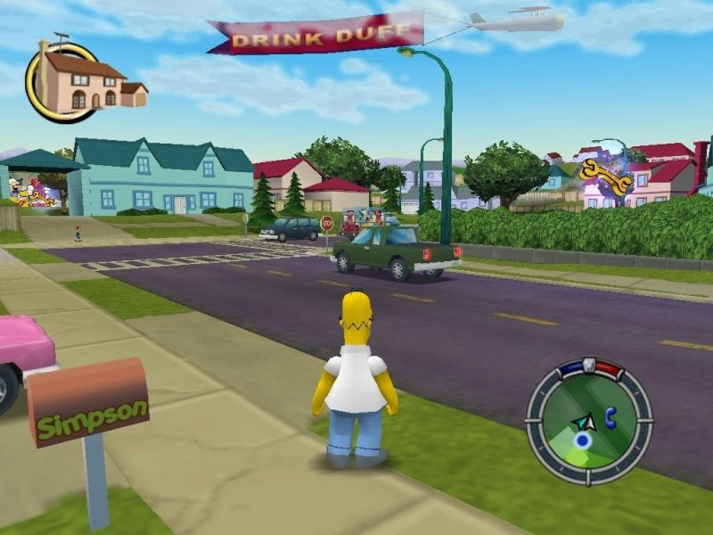 Pantallazo The Simpsons Hit and Run