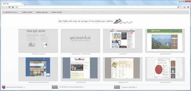 Pantallazo Epic Privacy Browser