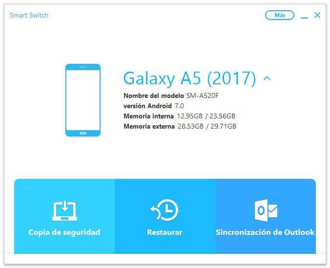 Pantallazo Samsung Smart Switch
