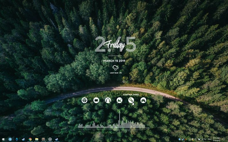 Pantallazo RainDesktop